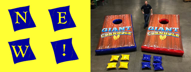 GIANT CORNHOLE – INFLATABLE added to inventory