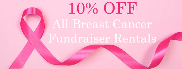 10% OFF All Breast Cancer Fundraiser Rentals