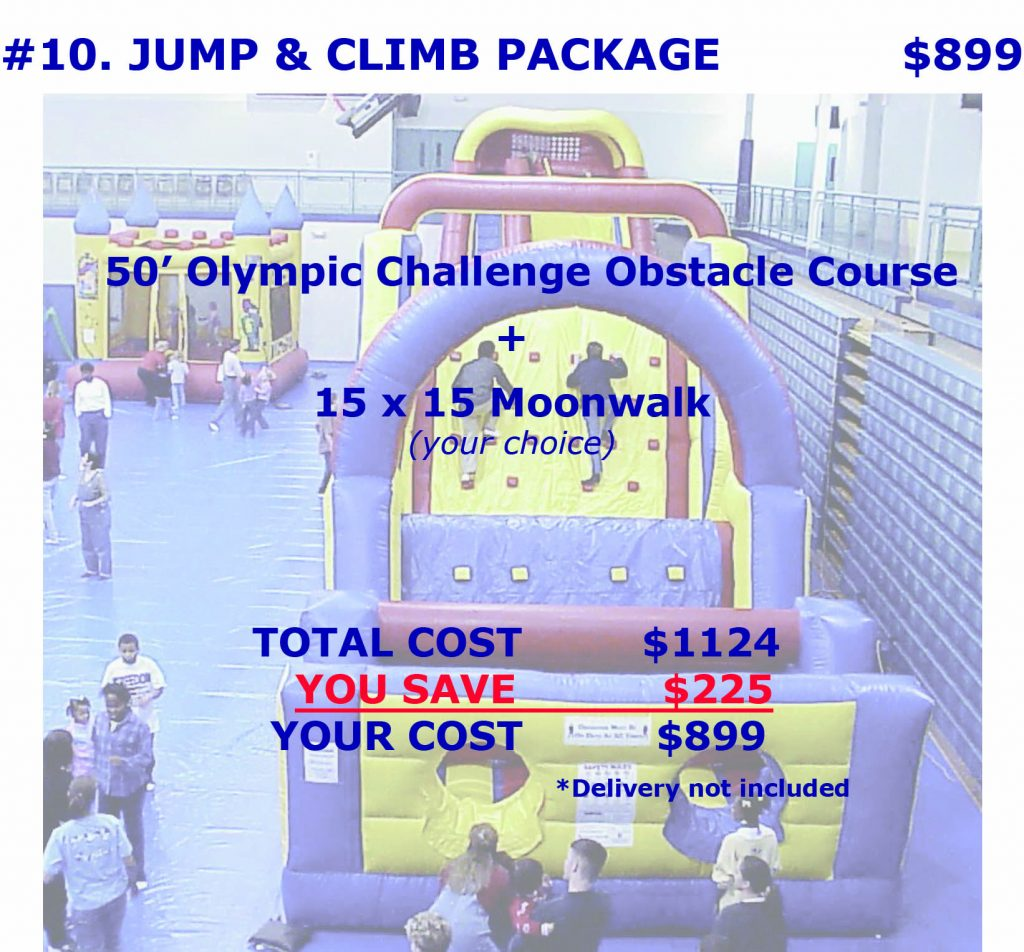 Inflatable Obstacle Course Package Discount Rental Cincinnati Ohio