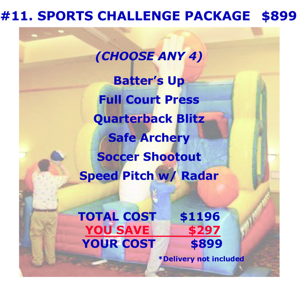 Sports Challenge Package Discount Inflatable Rental Cincinnati Ohio