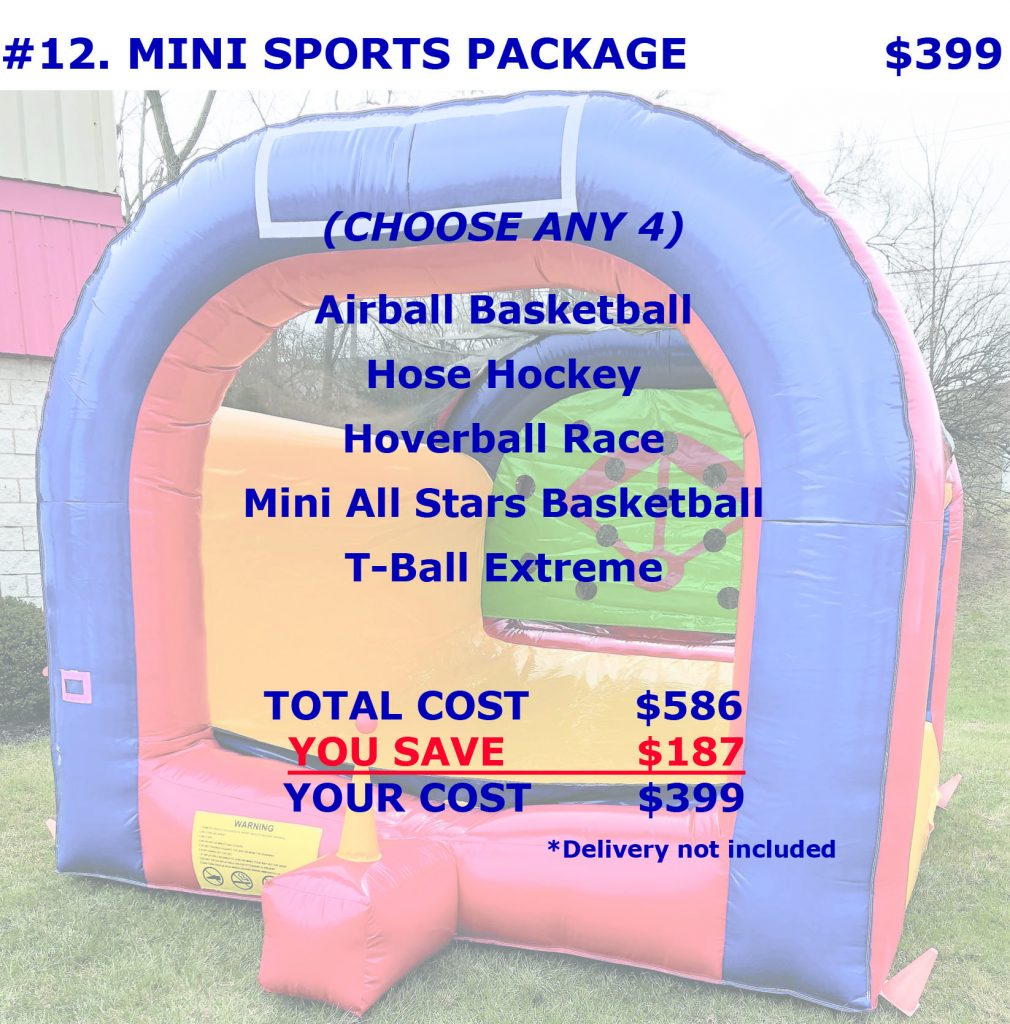 Sports Inflatable Rentals Package Discount Cincinnati Ohio