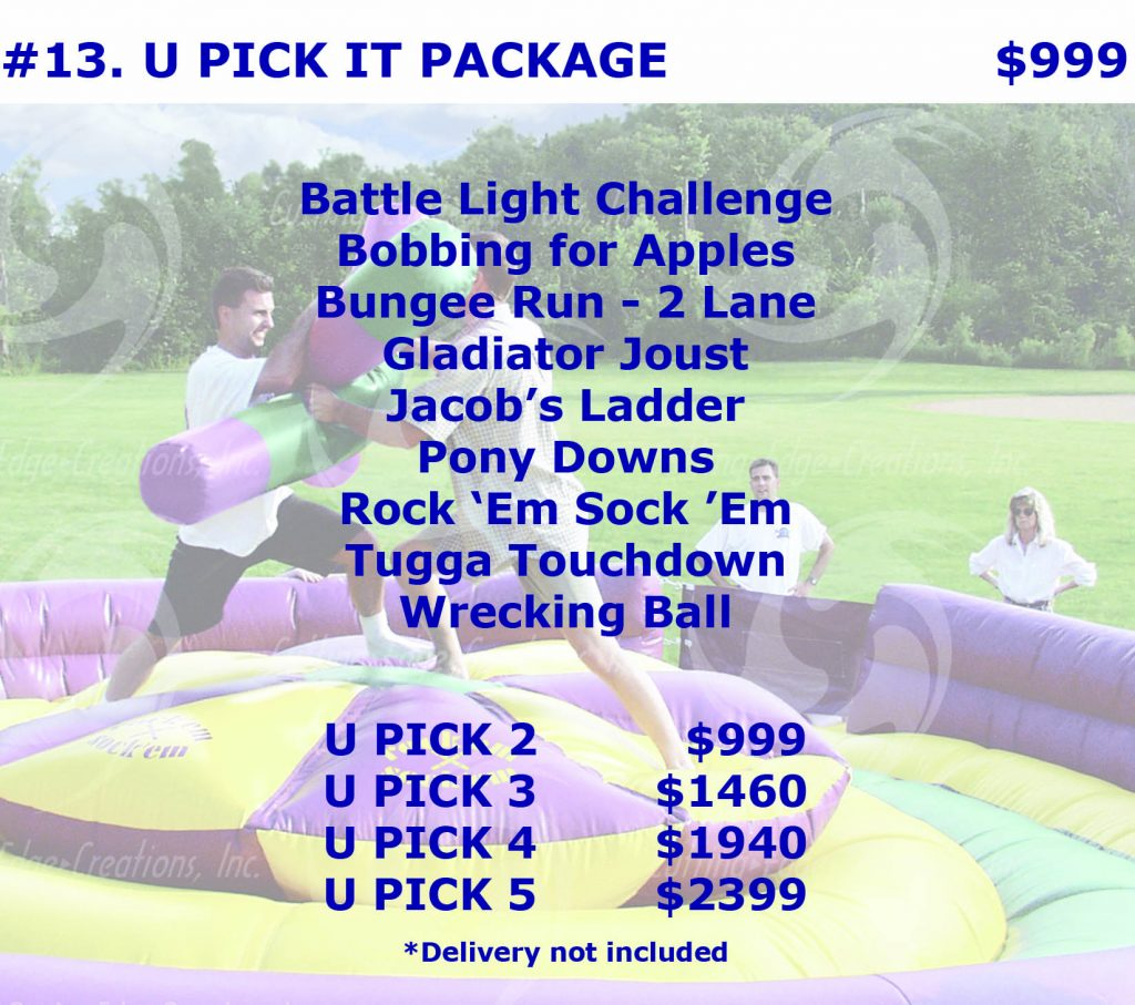 Interactive Inflatable Bungee Run Gladiator Joust Rental Package Discount Cincinnati Ohio
