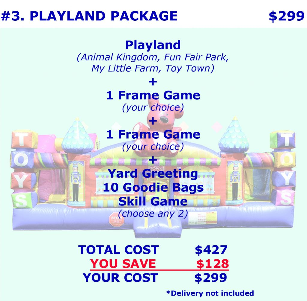Inflatable Playland Bounce House Rental Package Discount Party Rentals Cincinnati Ohio