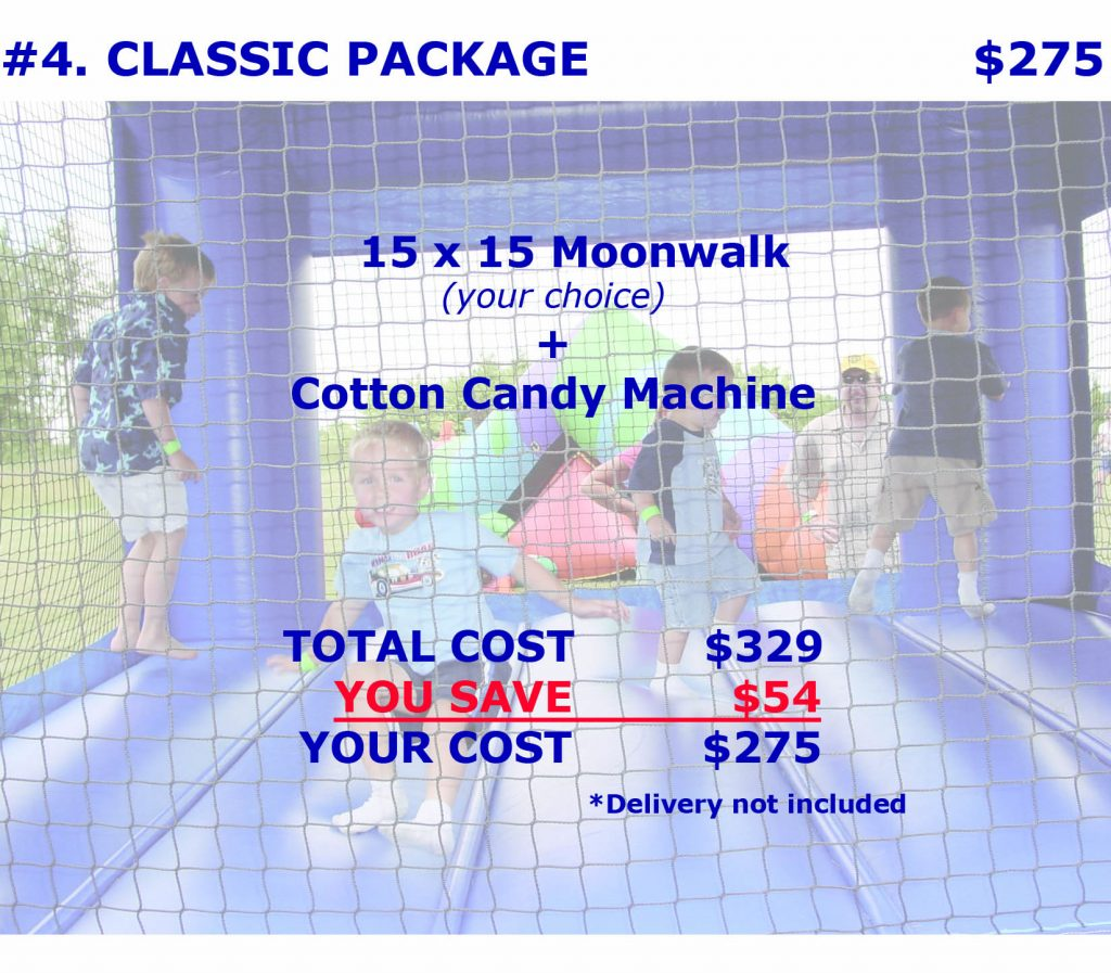 Classic Package Bounce House Cotton Candy Rental Cincinnati Ohio