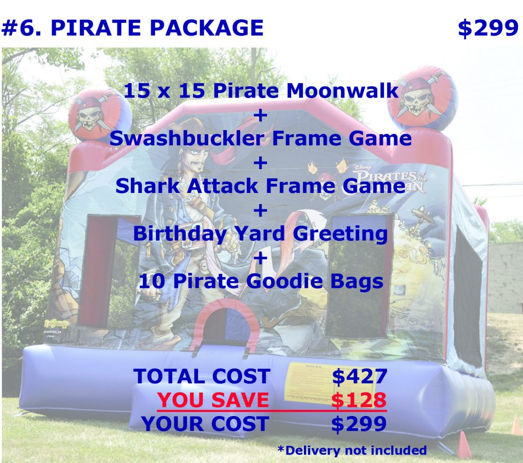 Inflatable Pirates Bounce House Rental Package Discount Party Rentals Cincinnati Ohio