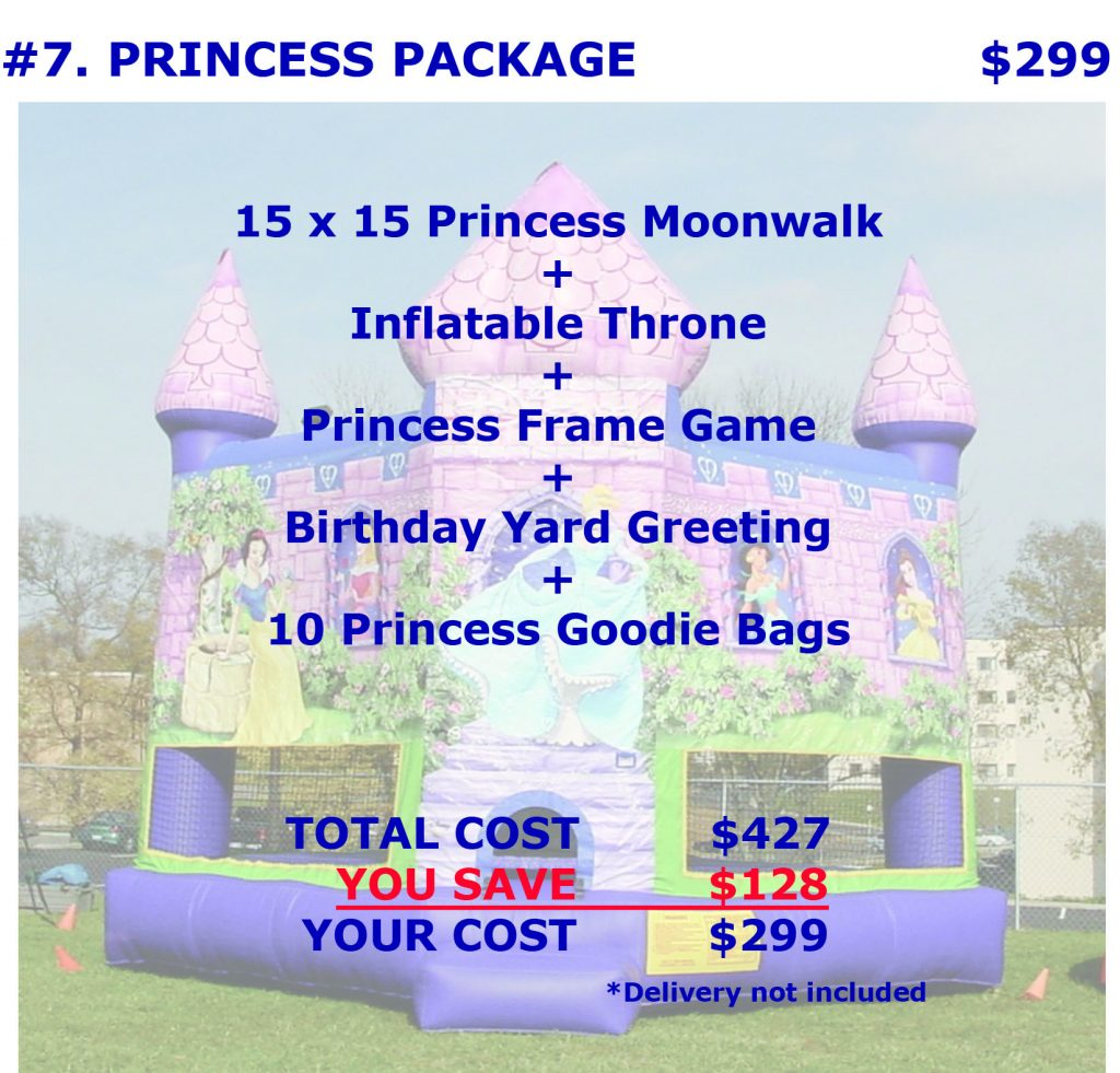 Inflatable Disney Princess Bounce House Rental Package Discount Party Rentals Cincinnati Ohio