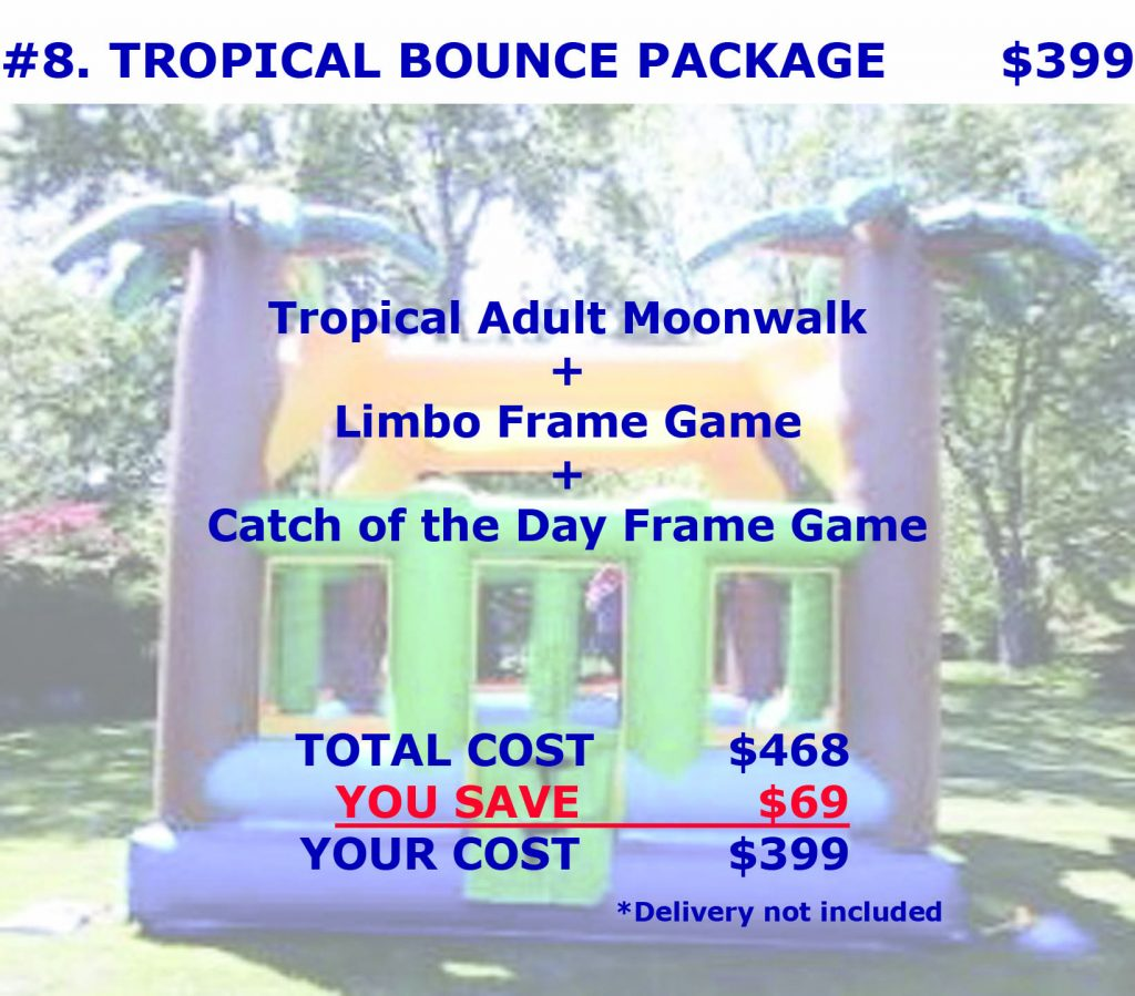 Tropical Inflatable Bounce House Rental Package Discount Cincinnati Ohio