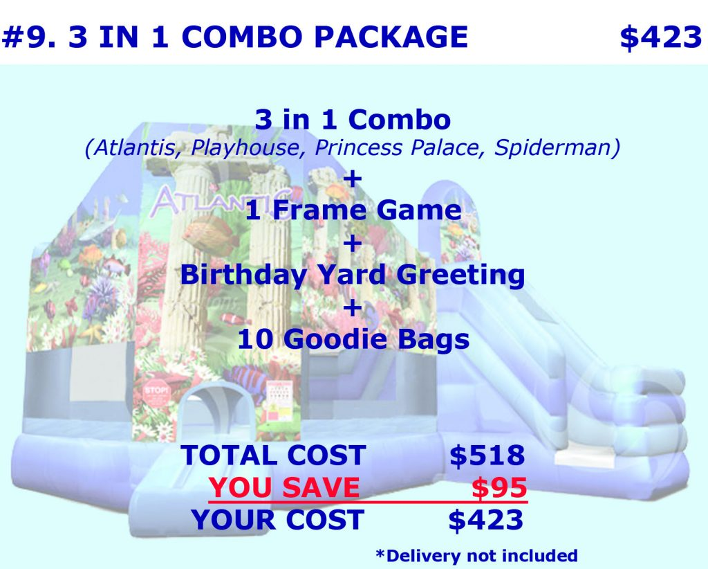 Inflatable Bounce House Slide Combo Rental Package Discount Party Rentals Cincinnati Ohio