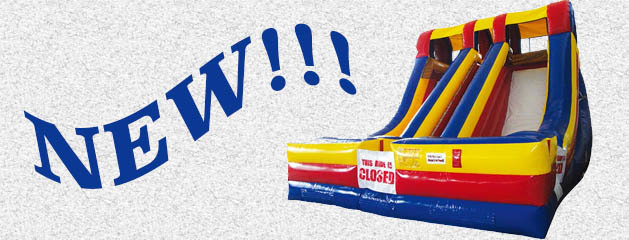 ACCELERATOR – DUAL LANE INFLATABLE SLIDE added to inventory!