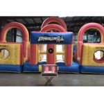 Adrenaline Rush Inflatable Obstacle Course with Lights Rental with Lights - Cincinnati, Ohio