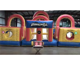 Adrenaline Rush Inflatable Obstacle Course Rental with Lights - Cincinnati, Ohio