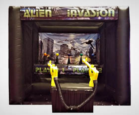 Alien Invasion Inflatable Shooting Game Rental - Cincinnati, Ohio