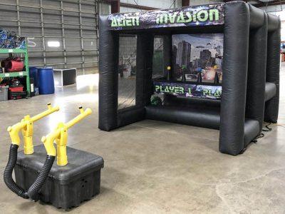 Alien Invasion Inflatable Shooting Game Rental - Cincinnati, Ohio