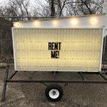 Arrow Marquee Blinking Sign Rental Cincinnati Ohio