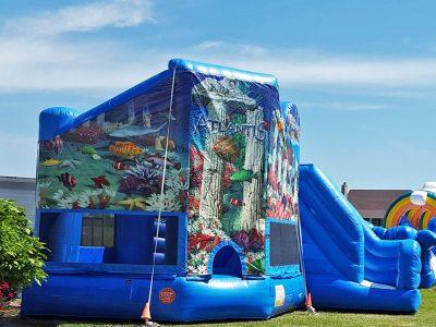 Atlantis 3-in-1 Inflatable Bounce House Combo Rental Cincinnati Ohio