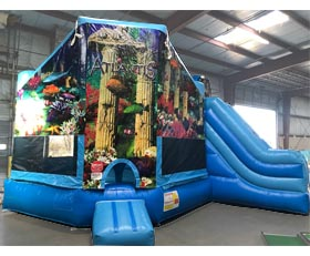Atlantis 3-in-1 Inflatable Bounce House Combo Rental Cincinnati Ohio