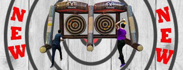 Inflatable Axe Throw – Double Rental is here in Cincinnati!