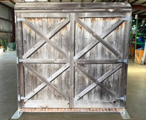Rustic Barn Door Back Drop Rental for Photo Booth_Trade Show_Convention_Prom_After Prom_Cincinnati Ohio