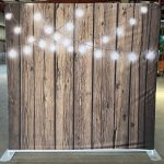 Dark Wood with String Lights Back Drop Rental for Photo Booth_Trade Show_Convention_Prom_After Prom_Cincinnati Ohio