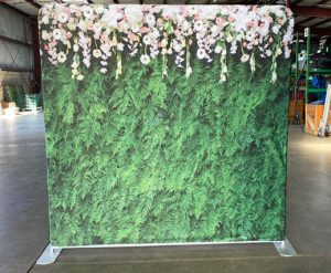 Ferns & Flowers_Back Drop Rental for Photo Booth_Trade Show_Convention_Prom_After Prom_Cincinnati Ohio