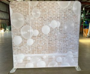 Rustic White Balloons Back Drop Rental for Photo Booth_Trade Show_Convention_Prom_After Prom_Cincinnati Ohio