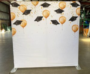 Graduation Cap Back Drop Rental for Photo Booth_Trade Show_Convention_Prom_After Prom_Cincinnati Ohio