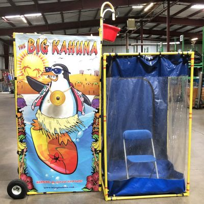 Indoor Dunk Tank Splash Attachment for Bucket Dump Game Rental Cincinnati Ohio