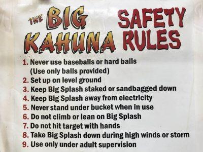 Big Kahuna Reverse Dunk Tank Bucket Dump Water Game Rental Cincinnati Ohio