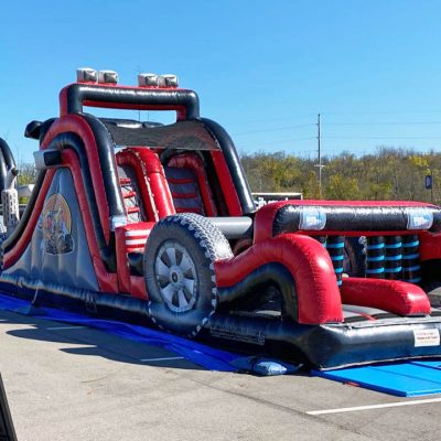Big Rig Truck Inflatable Obstacle Course Rental Cincinnati Ohio