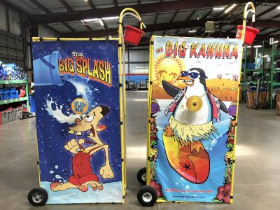 Big Splash Big Kahuna Reverse Dunk Tank Bucket Dump Water Game Rental Cincinnati Ohio