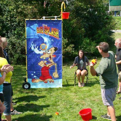 Big Splash Reverse Dunk Tank Bucket Dump Water Carnival Game Rental Cincinnati Ohio
