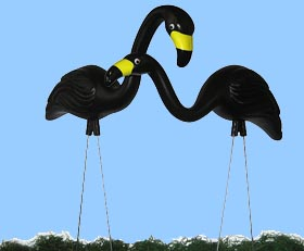 Black Flamingos Lawn Decoration