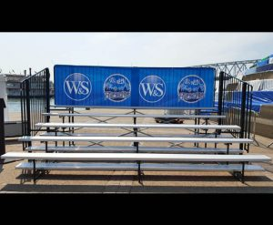 portable 5 row bleacher rental Cincinnati, Ohio