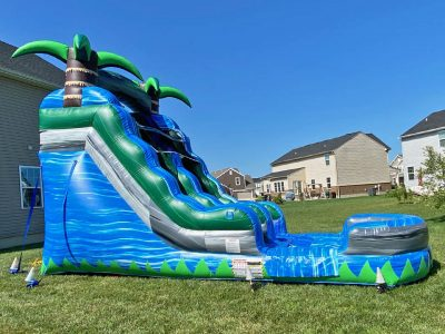 15' Blue Crush Inflatable Water Slide - Wet or Dry Slide - Cincinnati, Ohio