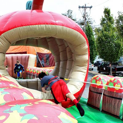 Bobbing for Apples - Interactive Bungee Inflatable Rental Cincinnati, Ohio