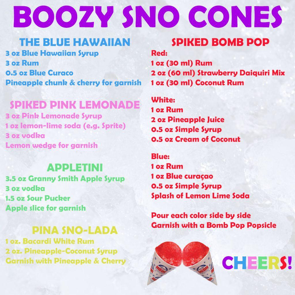 Alcoholic Boozy Adult Sno Cones