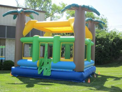 Tropical Palm Tree Teen & Adult Inflatable Bounce House Rental Cincinnati Ohio