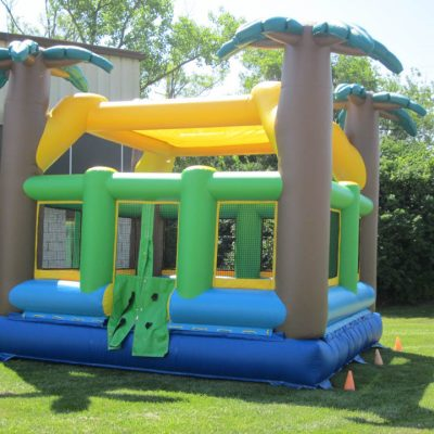 Tropical Palm Tree Teen & Adult Inflatable Bounce House Rental Cincinnati Ohio