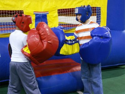Inflatable boxing ring over size boxing gloves rental Cincinnati Ohio