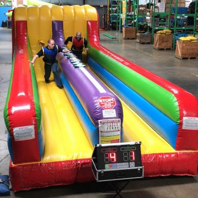2 player Bungee Run inflatable with Interactive Light Score Keeper Rental Cincinnati Ohio