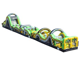 Caution Course Inflatable Obstacle Course - 95' Rental Cincinnati Ohio