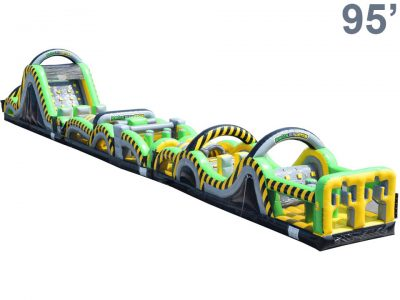 Caution Course Inflatable Obstacle Course - 95' Rental Cincinnati Ohio
