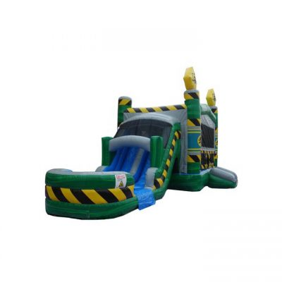 Wet/dry Bounce House Dual Lane Water Slide Inflatable Combo rental cincinnati ohio
