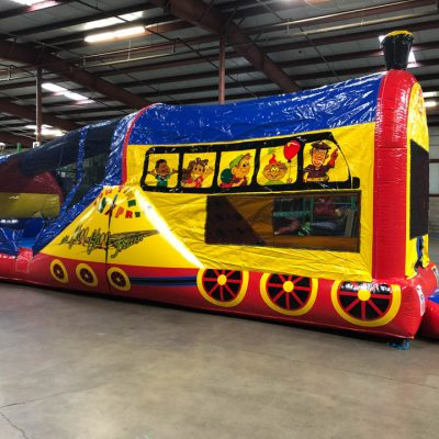 Choo Choo 3 in 1 Inflatable Bounce House Climb and Slide Combo Rental Cincinnati Ohio