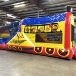 Choo Choo 3 in 1 Inflatable Bounce Climb and Slide Combo Rental Cincinnati Ohio