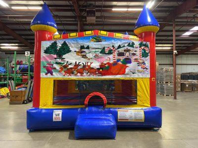 Christmas Custom Castle Bounce House Renal Cincinnati Ohio