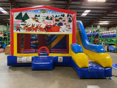Christmas Playhouse Inflatable Bounce House and Slide Combo Rental Cincinnati Ohio