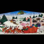 Christmas Santa Claus Playhouse Inflatable Bounce House and Slide Combo Rental Cincinnati Ohio