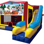 Christmas Santa Claus Playhouse Inflatable Bounce House and Slide Combo Rental Cincinnati Ohio