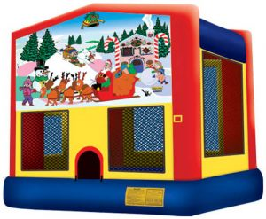 Christmas Themed Santa Claus Bounce House Rental Cincinnati Ohio